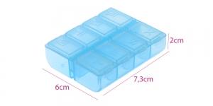 Väike plastmassist (PP) läbikumav säilituskarp, 7,5 x 6 x 2 cm, KL1294, KL1294