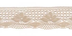 Puuvillane pits 3185-27 laiusega 7 cm, värv linabeež