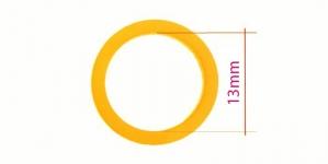 UA11, Plastrõngas nn. rinnahoidja rõngas, ø13mm, värv: tume sügav kollane