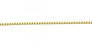 Kuldne alumiiniumkett, 6 x 3,5 x 1 mm, MA1