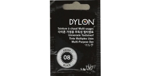 Mitmeotstarbeline riidevärv Dylon Multipurpose Die - Hand Use, 5,8 G, Värv 08 Ebony Black