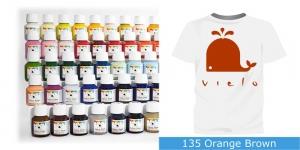 Fabric Paint Vielo, 50 ml #135 Orange Brown