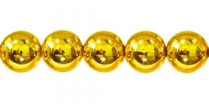 BJ1 20mm Kuldkollane ümar plasthelmes