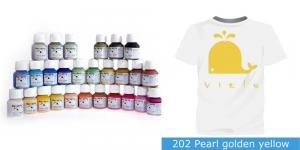 Pärlmuttervärv kanga värvimiseks, Fabric Paint Pearl, 50 ml, Vielo, Värv: kuldkollane, #202 Pearl golden yellow