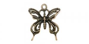 24mm Antiikpronksjas, liblikaga metallist riputis EG190