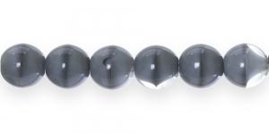 LN328 Ümar klaaspärl, Tšehhi, 12mm, Hall, värvitulaiguline
