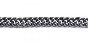 Alumiiniumkett Hematiit 15 x 12 x 3 mm, MA76