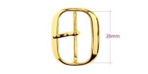 Metal buckle, 35x28 mm for belt width 28 mm, plating: golden, PA574