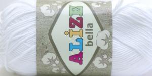 Puuvillane lõng Bella; Värv 55 (Valge) / Alize