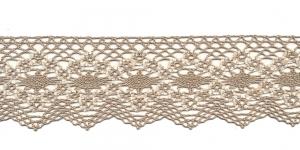 Puuvillane pits 1424-8X laiusega 6,5 cm, värv linabeež kreemjasvalgega