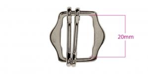 Metallisolki, kiristin, 26x28 mm, sopii hihnaan 20 mm, pinnoite: musta nikkeli, SHB204