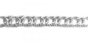 Alumiiniumkett Hõbedane 22 x 16 x 3 mm, MA104