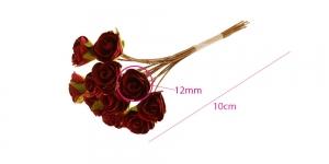 Paberlillede kimp, roosid, 12 õit, õis ø12 mm, bordoopunased, B1971BG