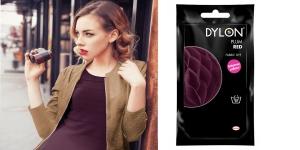 Käsi-riidevärv Dylon Fabric Dye, 50 g, Värv: tume bordoopunane, Plum Red