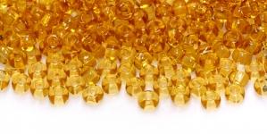Terahelmed, seemnehelmed, Nr.5 (4,3-4.8mm), Preciosa Pruunikasoranžid läbipaistvad HC34