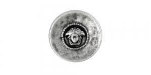 Antiikhõbedane, kannaga metallnööp, 30mm/48L, SF242