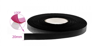 Sew on LOOP tape 30 mm, black