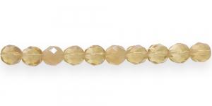 LO88A Ümar tahuline klaaspärl, Tšehhi, 8mm, Helebeežid piimjad ja värvitud