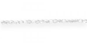 LA11 Ümar tahuline klaaspärl, Tšehhi, 3mm, Värvitu läbipaistev