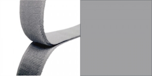 Hook and Loop tape, 20 mm, 25 cm, lighter grey #66