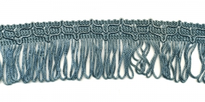 Lihtsad narmad pikkusega 5cm lainelise kaunistusservaga Hallikassinine