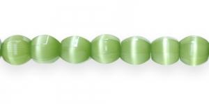 KG79 12x12mm Õunarohelised piimjad kassisilma helmed