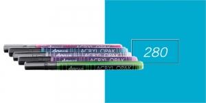 Akrüülvärviga viltpliiats, katva värviga, 1mm, 3ml, Darwi Acryl Opaque, TURQUOISE GREEN 280