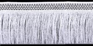 Võrgulise servaga õrnad narmad pikkusega 25 cm, värv valge, 1
