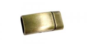 Metallist magnetkinnis, antiikpronksjas, 25 x 13 x 8mm, EE103