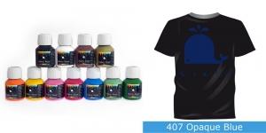 Kattev värv kanga värvimiseks pintsli, tampooni jms abil, Fabric Paint Opaque, 50 ml, Vielo, Värv: sinine, #407 Opaque Blue