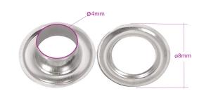 Sirkkarenkaat, messinkista, ø4 mm, 20 kpl, pinnoite: nikkeli, KL0116