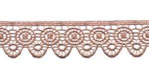 Metallikniidist pits MT59-1096J laiusega 4 cm, värv roosakaskuldne
