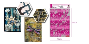 Šabloon, trafarett värvimiseks 15 cm x 21 cm, Pronty 470.770.012