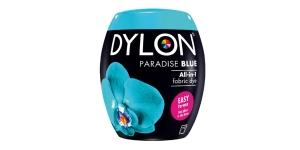 Konepesuväri DYLON Fabric Dye, UUDISTETTU - sis suolan, 350 g, turkoosinsininen, Paradise Blue #21