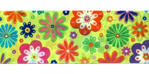 Lilleline neoonkollasel taustal ripspael laiusega 48 mm Art.P1752 Värv 64