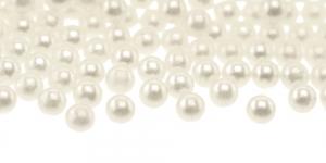 ø5mm Kreemjasvalge pärlmutter, aukudeta plasthelmes, BV2