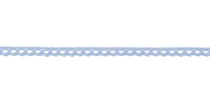 Puuvillane pits 3840-19 laiusega 1 cm, värv õrn helesinine