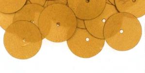 YB97 / Lamedad kettakujulised plastlitrid , mahe kuldne / ø14mm
