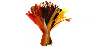 Peitlukud 20 cm, pakkumiskomplekt, 50 tk, kollased-oranžid-pruunid, #3
