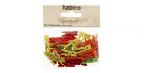 Värvilised väiksed pesupulgad 25 mm x 7 mm, 40 tk, Habico PP1051_TROPICAL IL13B