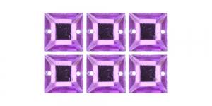 WH26 12mm Helelillad õmmeldavad kristallid, 6tk