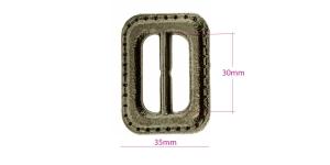 Plastpannal 49 x 35 mm rihmale laiusega 30 mm, vana messingu läige, ON0069, SHP173