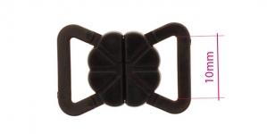 UD10, Rinnahoidja plastkinnis 10mm paelale, Must