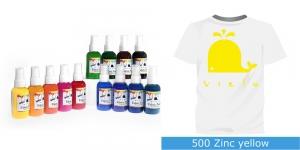 Spreivärvid kanga värvimiseks, Fabric Paint Spray, 50 ml, Vielo, Värv: erkkollane, #500 Zinc yellow