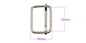 Metallist pinguti 20x25 mm, rihmale 20 mm, viimistlus: nikkel, SHP160