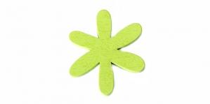 Lillekujuline erk õunaroheline puitdetail / 50 x 2mm / IO32