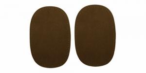 Triigitavad ehk kuumkinnituvad veluurpaigad, 2 tk, 10 cm x 15 cm, Pronty, tumepruunid 038