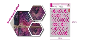 Šabloon, trafarett värvimiseks 15 cm x 21 cm, Pronty 470.770.005
