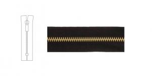 9700BR, 4mm hammastikuga metall-tõmblukk pikkusega 17cm-18cm, must, pronks hammastikuga