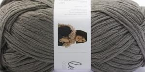 Krookiv lõng kreatiivseks kasutamiseks Loopy; Värv 8 (Tume hallikasbeez), RICO Design